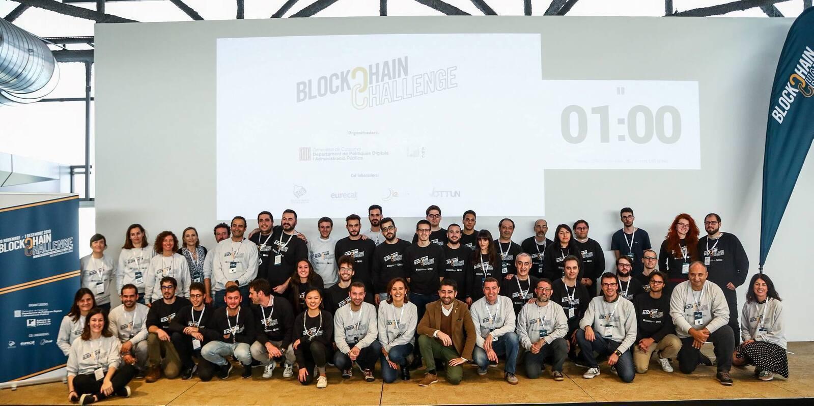 Foto de família del Blockchain Challenge