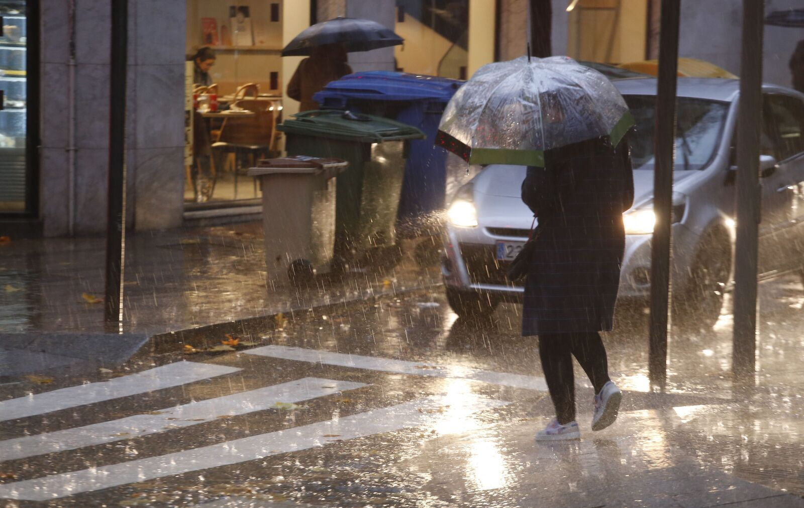 La pluja i el vent deixen catifes de fulles a Terrassa