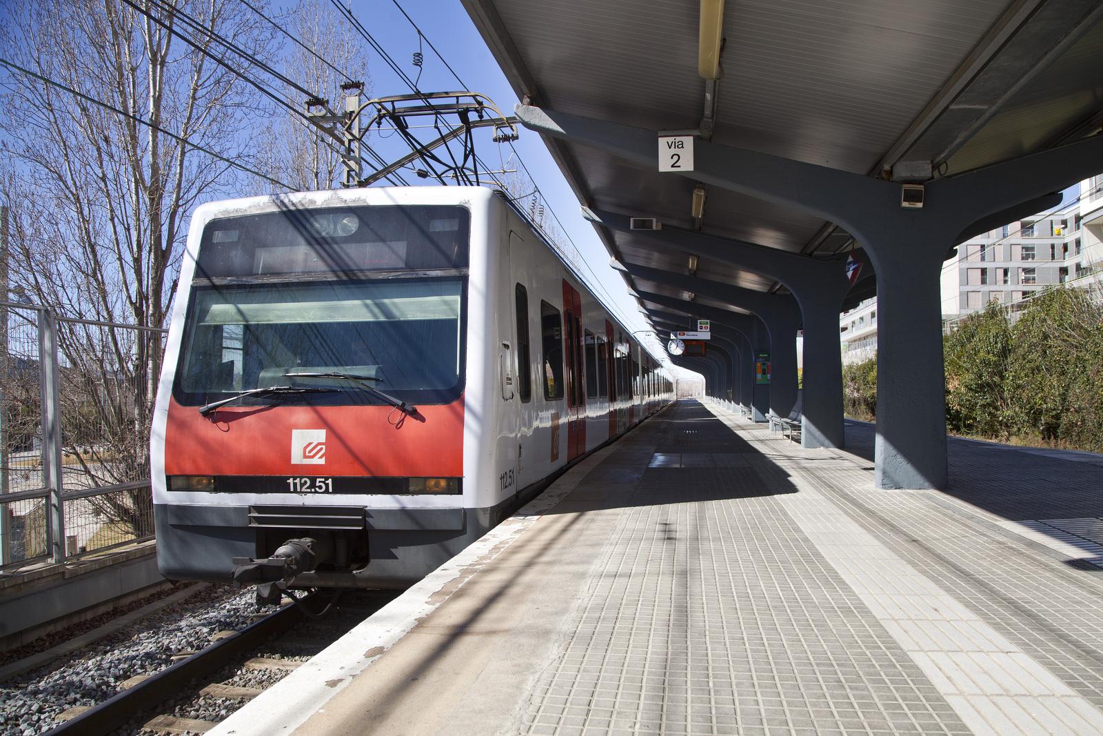 Un tren d'FGC del Metro del Vallès