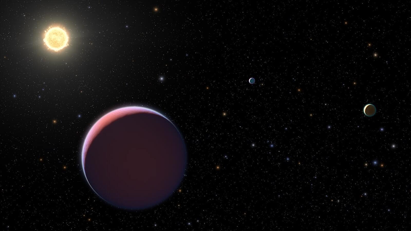Reproducció artística del sistema Kepler 51