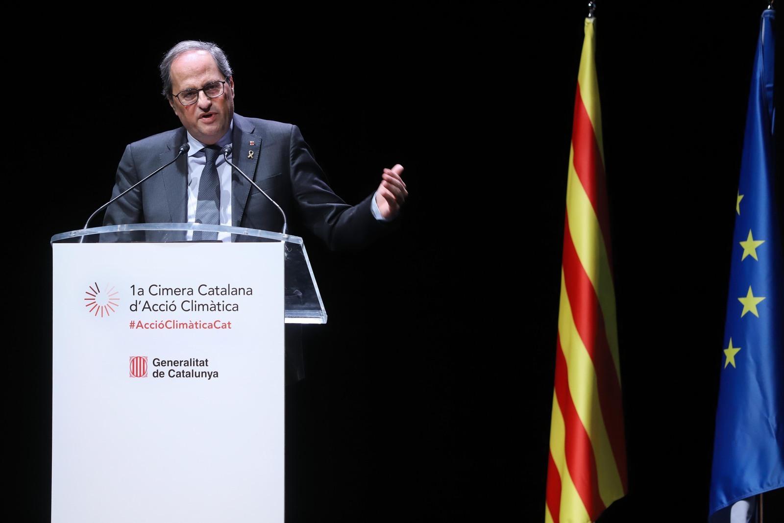 El president Torra durant la primera Cimera Catalana d'Acció Climàtica