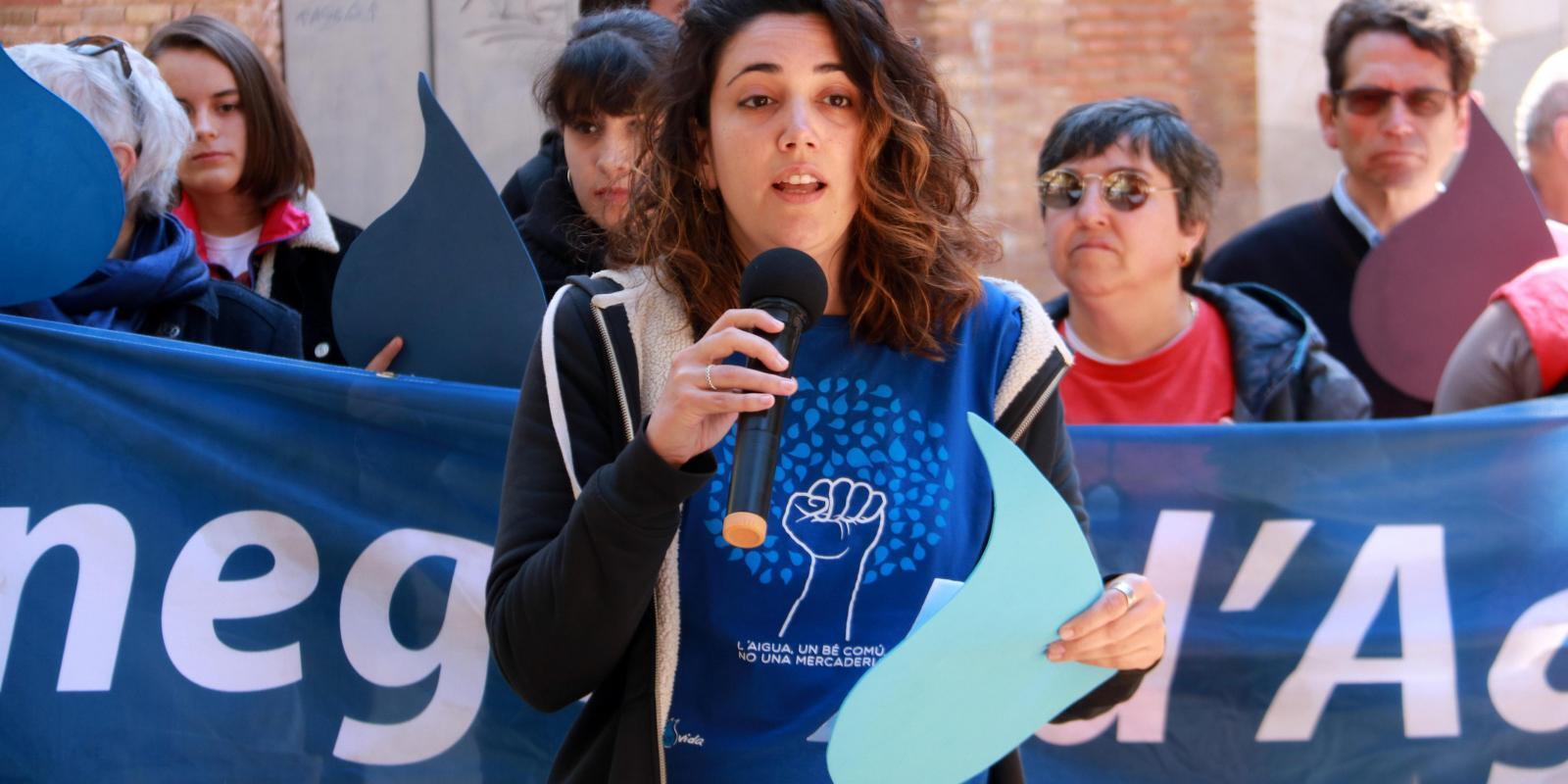 La portaveu de la plataforma Aigua És Vida, Míriam Planas, en una imatge d'arxiu