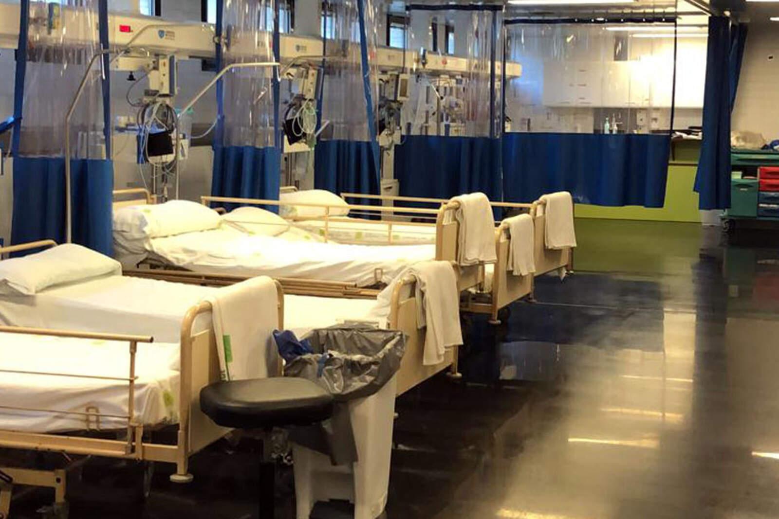 Pla general de llits de la zona per a pacients crítics amb coronavirus