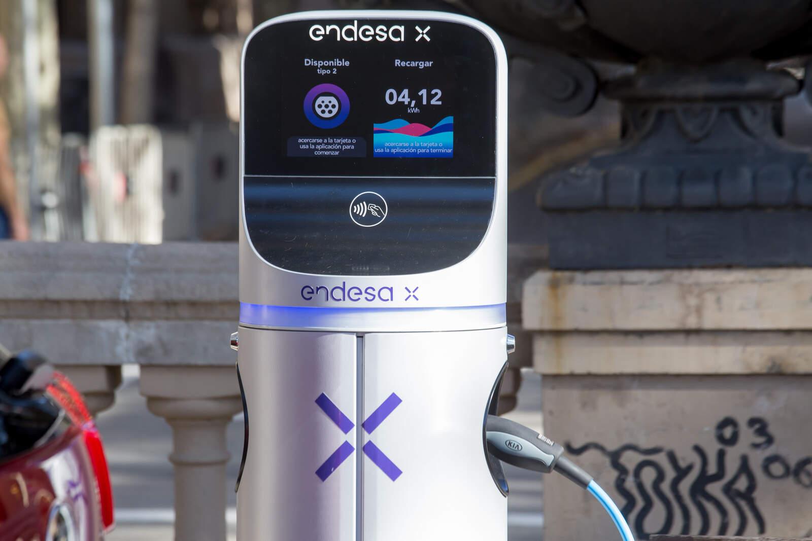 Punt de recàrrega per a vehicles elèctrics d'Endesa X
