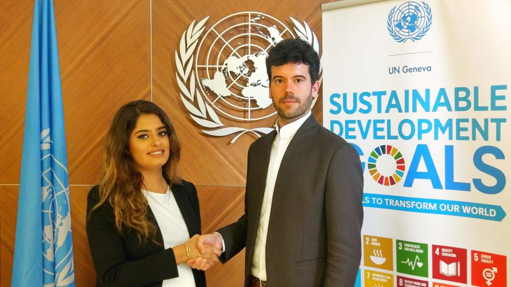 El director executiu de SciTech DiploHub, Alexis Roig, a la seu de l'ONU