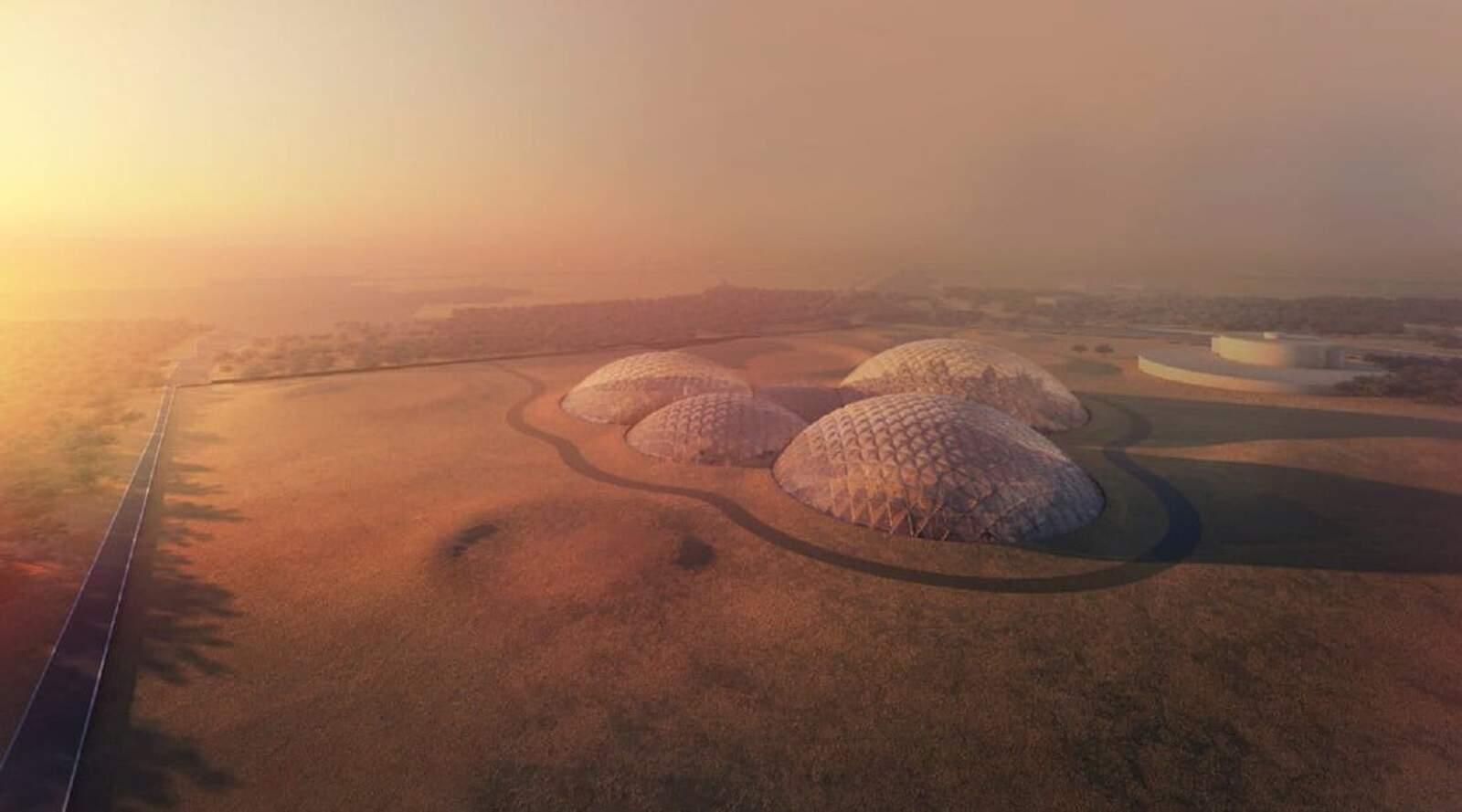 Render de l'aspecte que podria tenir la colònia marciana que es vol començar a construir a Dubai