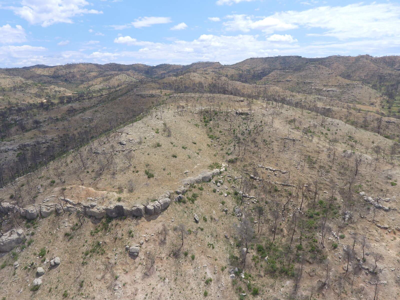 La zona cremada de la Ribera d'Ebre, a vista de dron