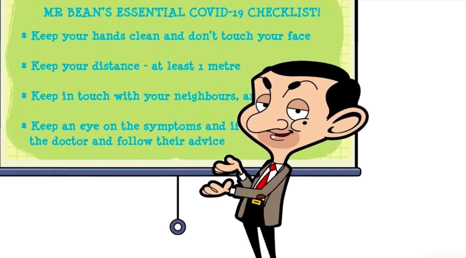 Mr. Bean a l'espot de l'OMS