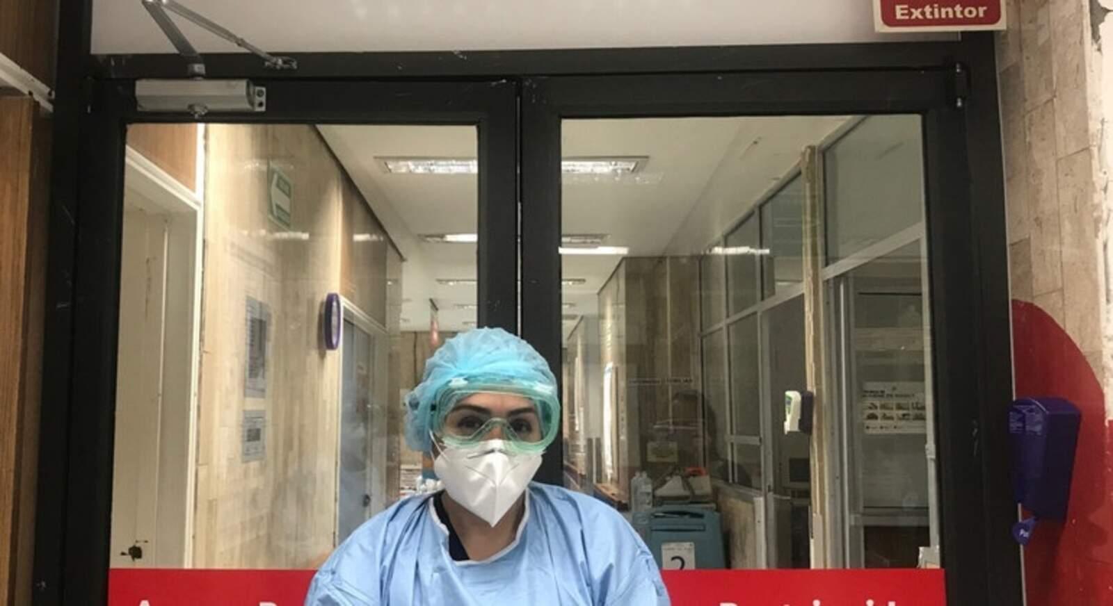 Una treballadora sanitària en un hospital de Mèxic