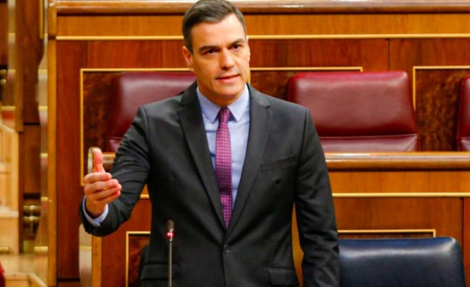 El president del govern espanyol, Pedro Sánchez, durant la sessió de control al Congrés dels Diputat