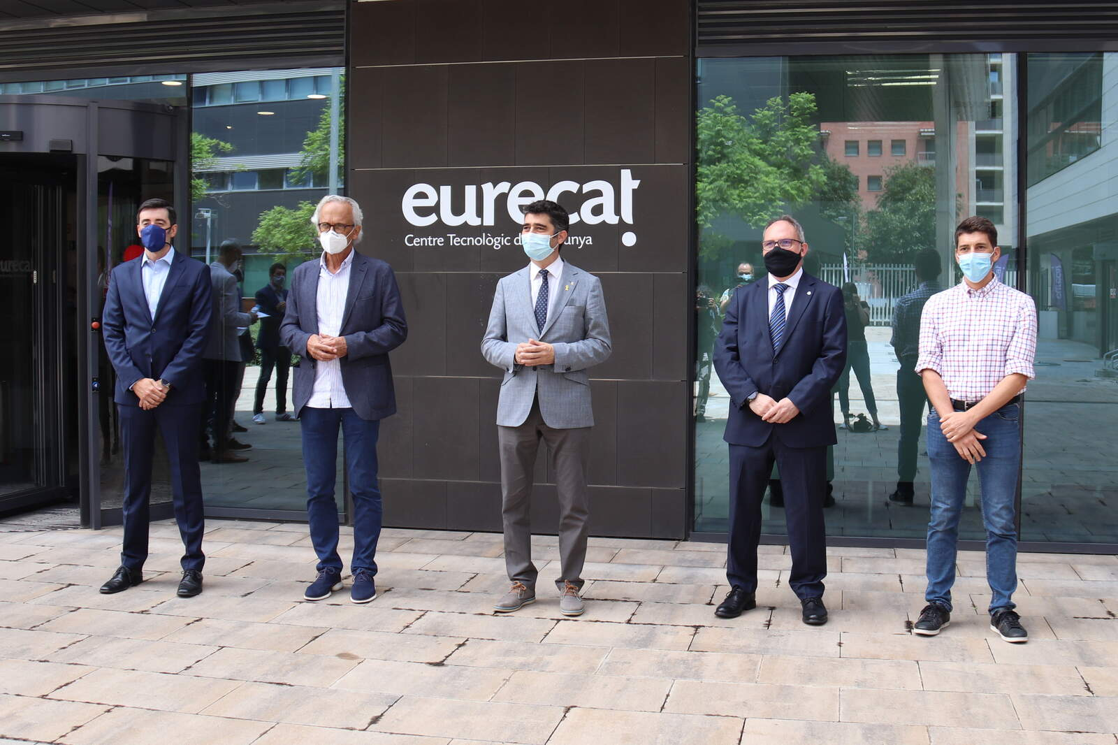 Jordi Puigneró, Oriol Mitjà i Bonaventura Clotet han estat entre els participants de la presentació a la seu de l'Eurecat