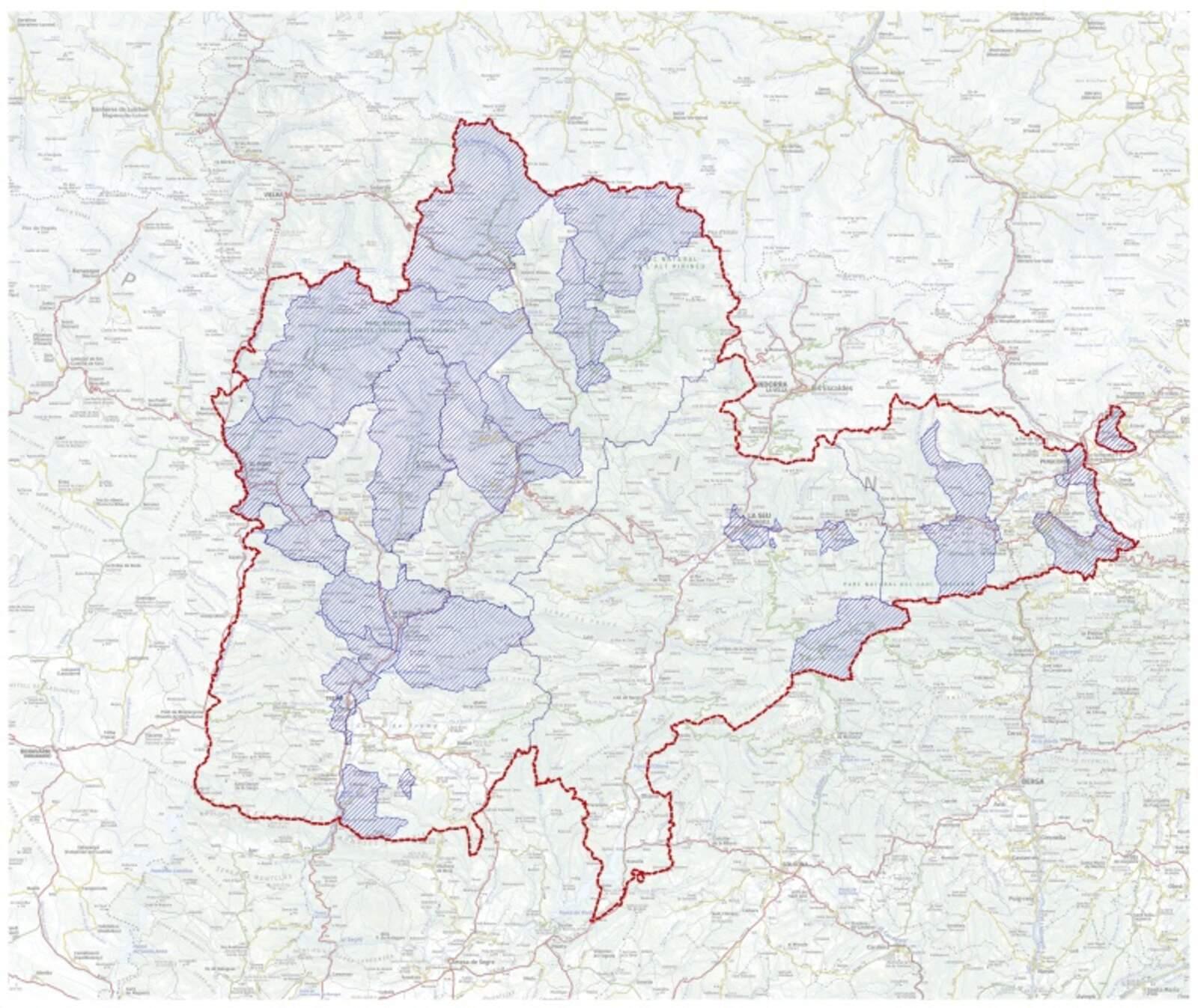 La zona afectada pel PDU del Pallars Sobirà
