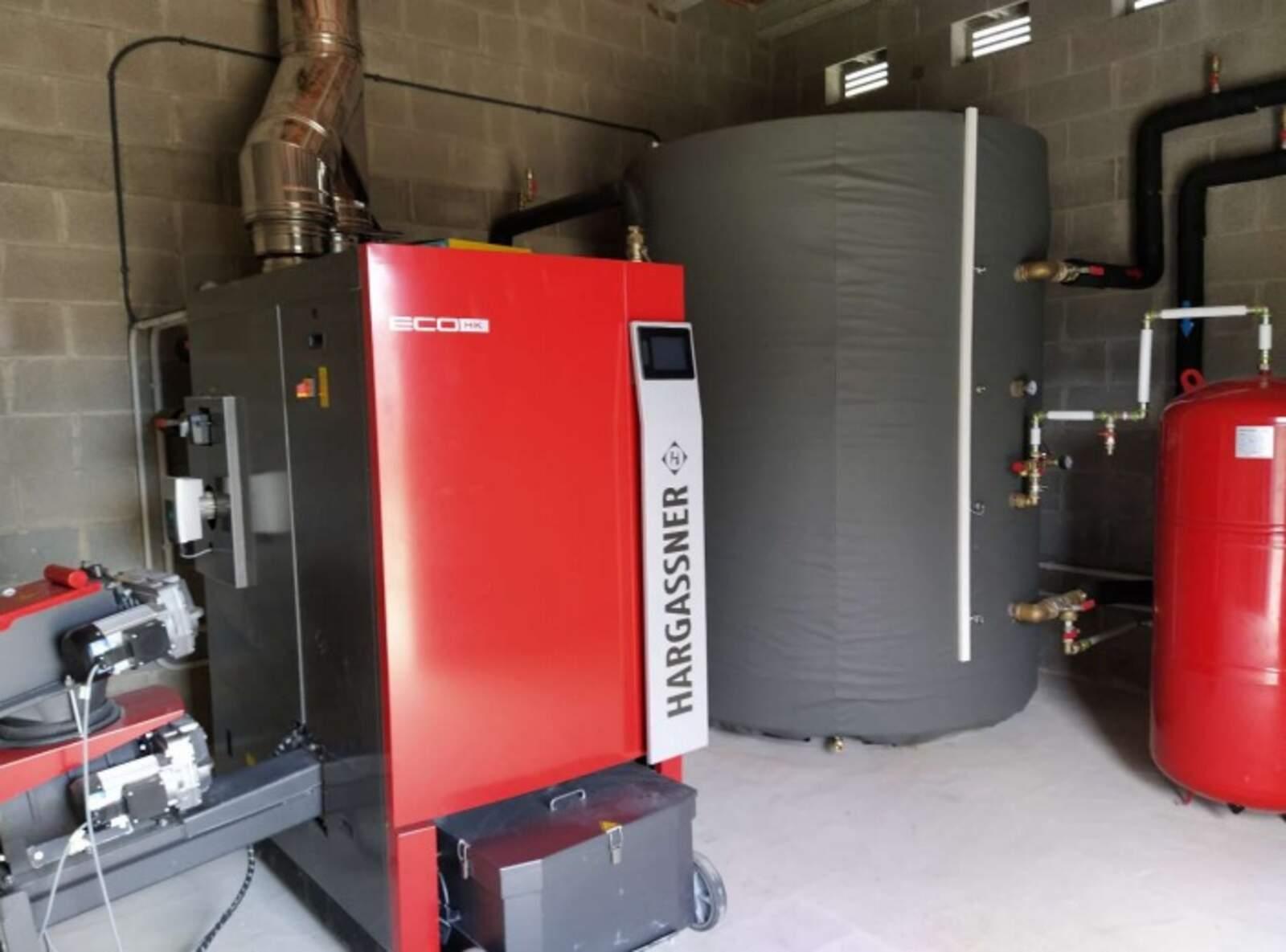 La caldera de biomassa de l'escola Anicet de Pagès i de Puig de Figueres