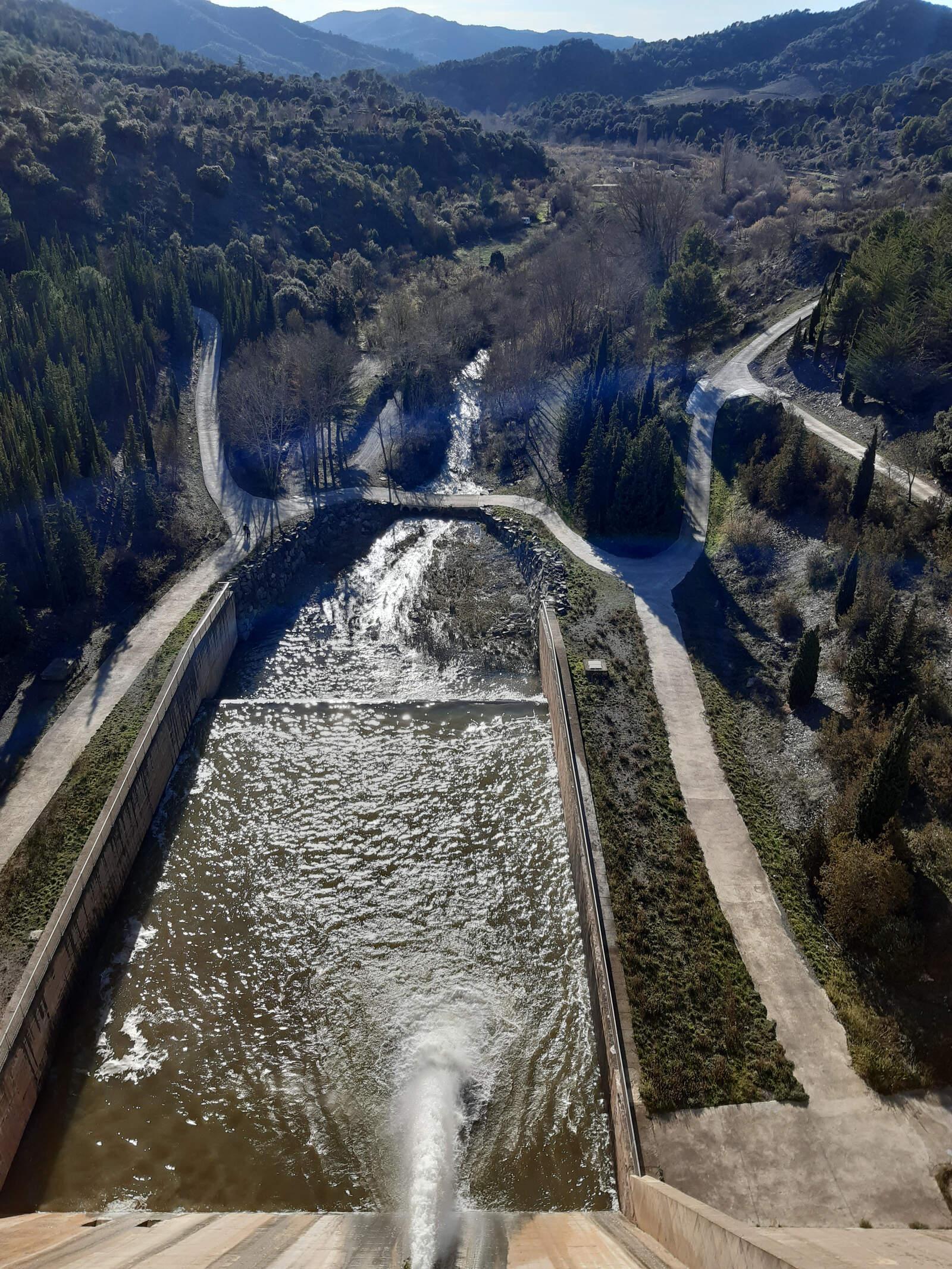 La conca del Siurana des de dalt de la presa