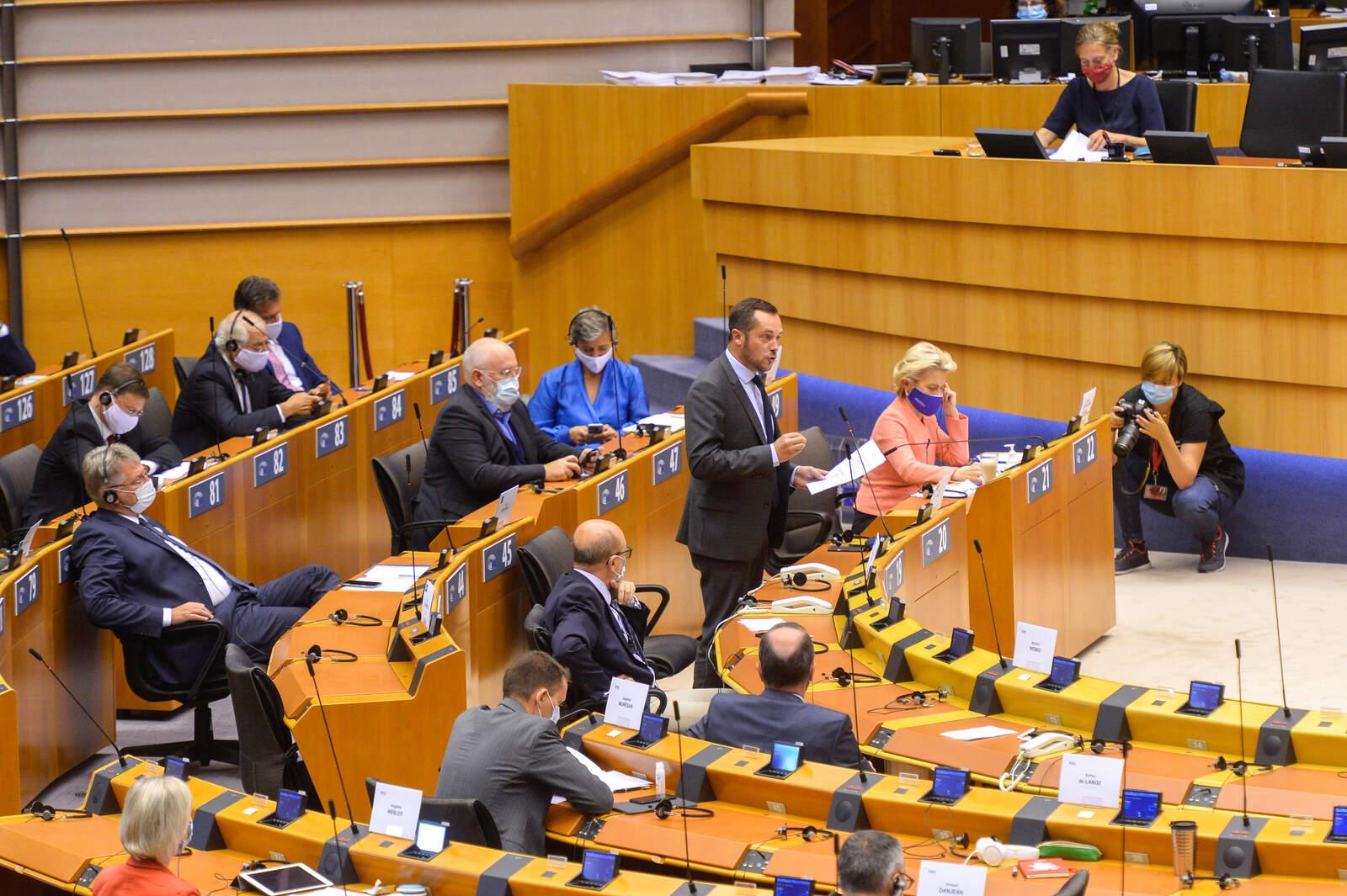 La presidenta de la Comissió Europea, Ursula von der Leyen ha fet el discurs sobre l'estat de la UE a l'eurocambra