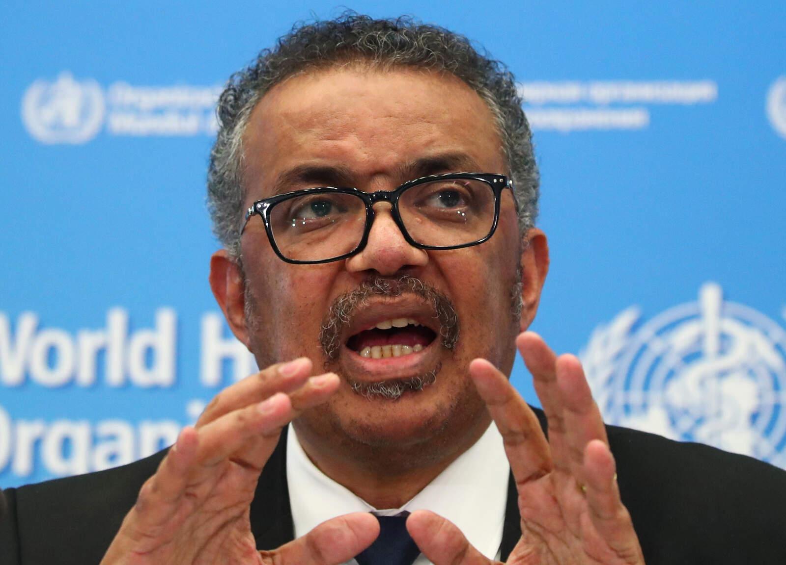 El director general de l'Organització Mundial de la Salut (OMS), l'etíop Tedros Adhanom Ghebreyesus,
