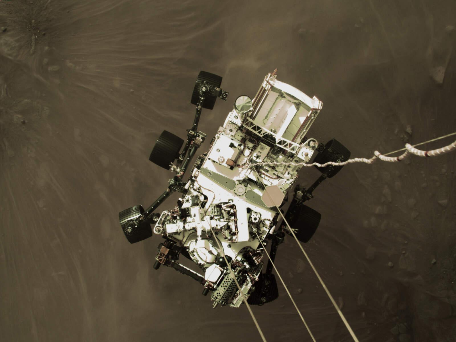 Rover Perceverance arribant a Mart