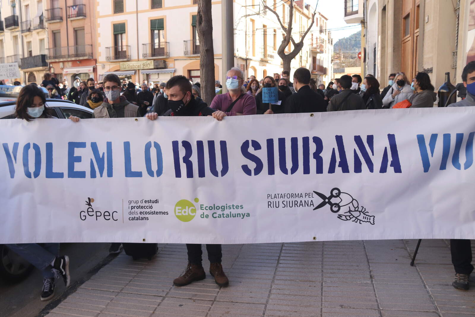Concentració per donar suport als activistes de la Plataforma Riu Siurana