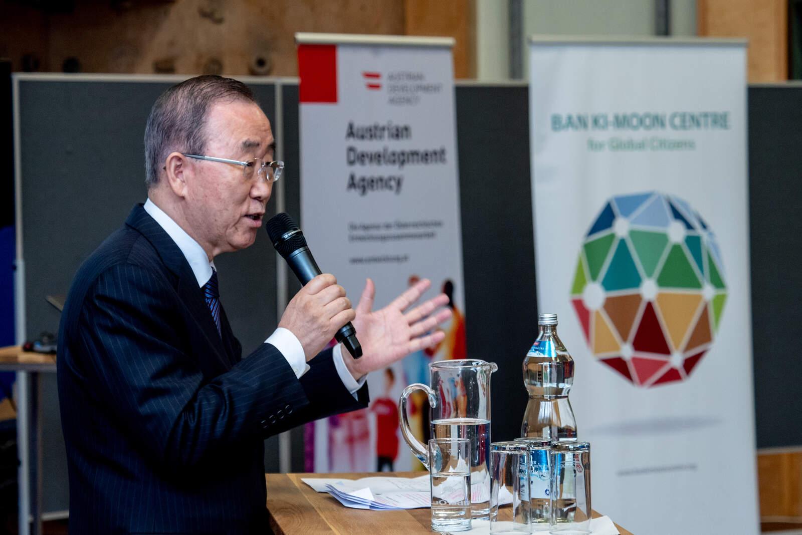 L'exsecretari general de l'ONU, Ban Ki-moon