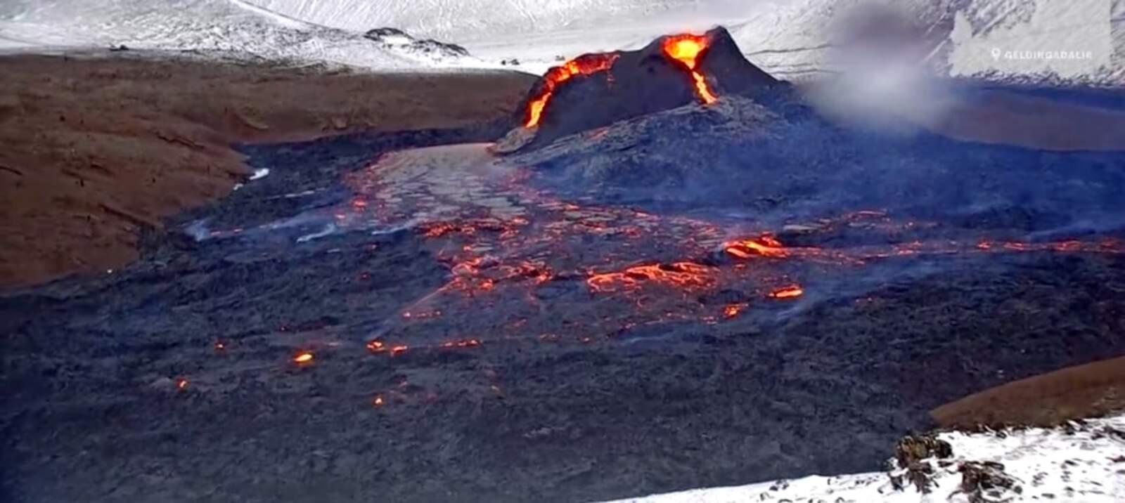 L'erupció del volcà de Geldingadalir, Islàndia