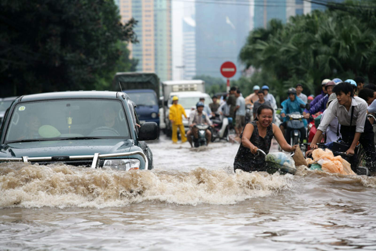 Inundacions a Hanoi, al Vietnam, l'any 2008