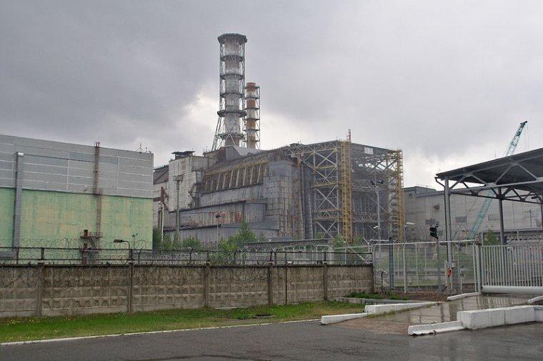 El reactor número 4 de la central nuclear de Txernòbil    Wikimedia Commons