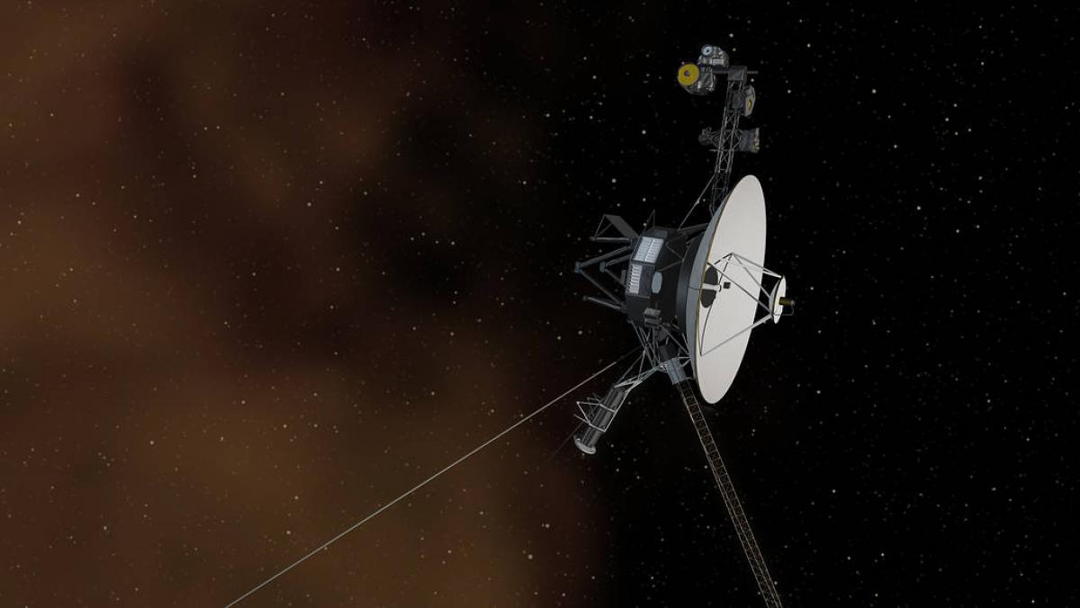 Reproducció artística de la sonda Voyager 1 entrant a l'espai interestel·lar  | NASA