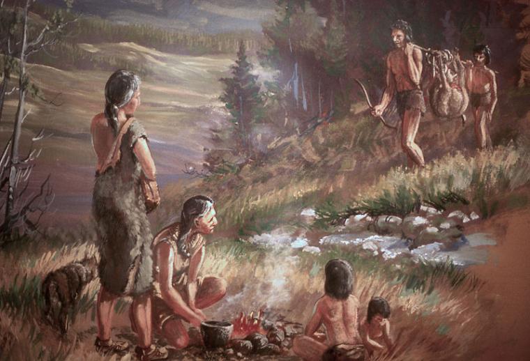 Reproducció artística d'humans primitius  | Domini Públic