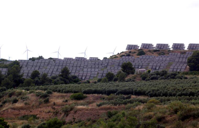 El parc solar de Flix    ACN