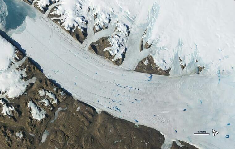 La glacera Petermann, a Grenlàndia  | NASA