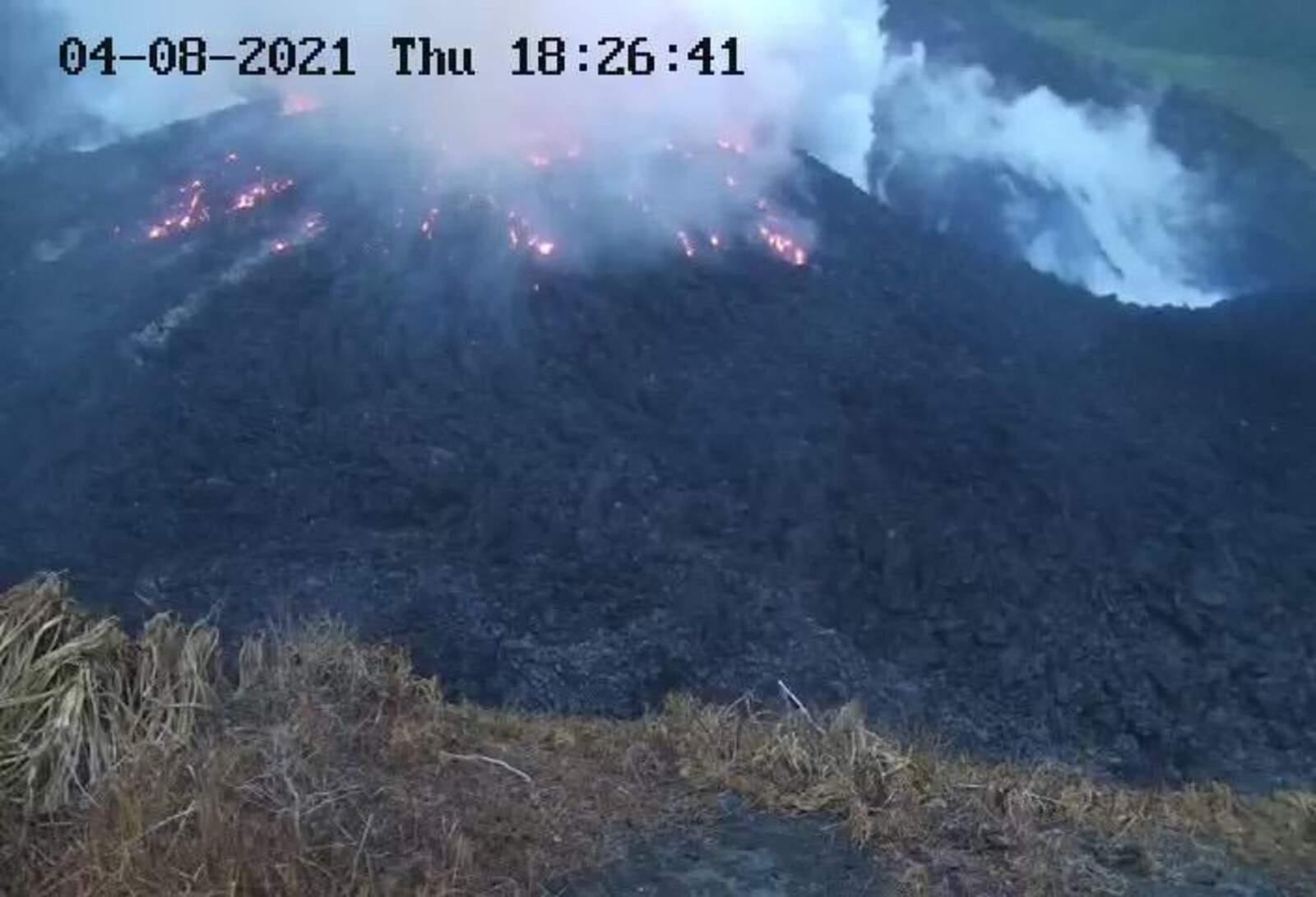 El volcà de La Soufrière, a St. Vincent i les Grenadines