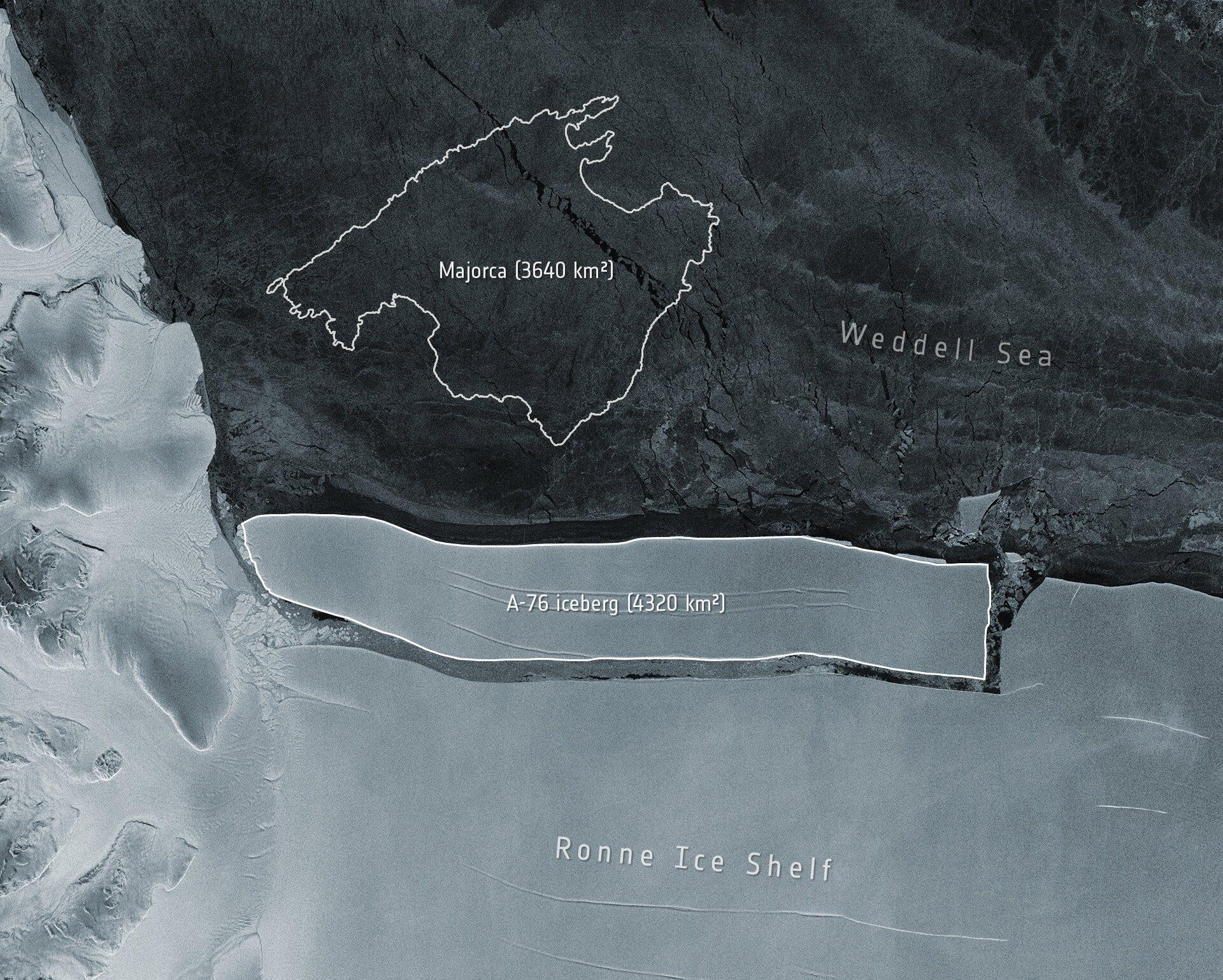 L'iceberg A-76 | Agència Espacial Europea
