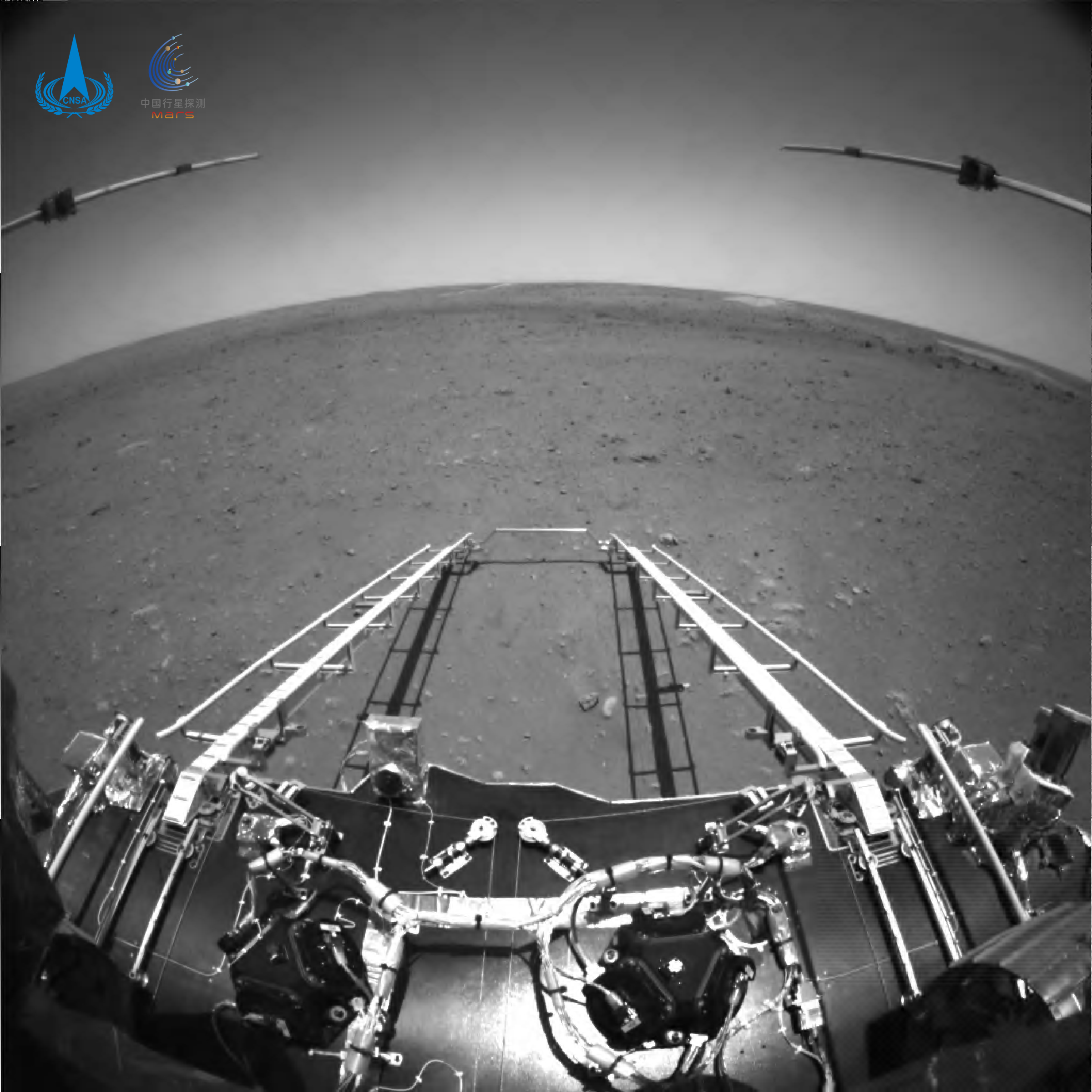 El Zhurong a la superfície de Mart | Administració Espacial Nacional Xinesa