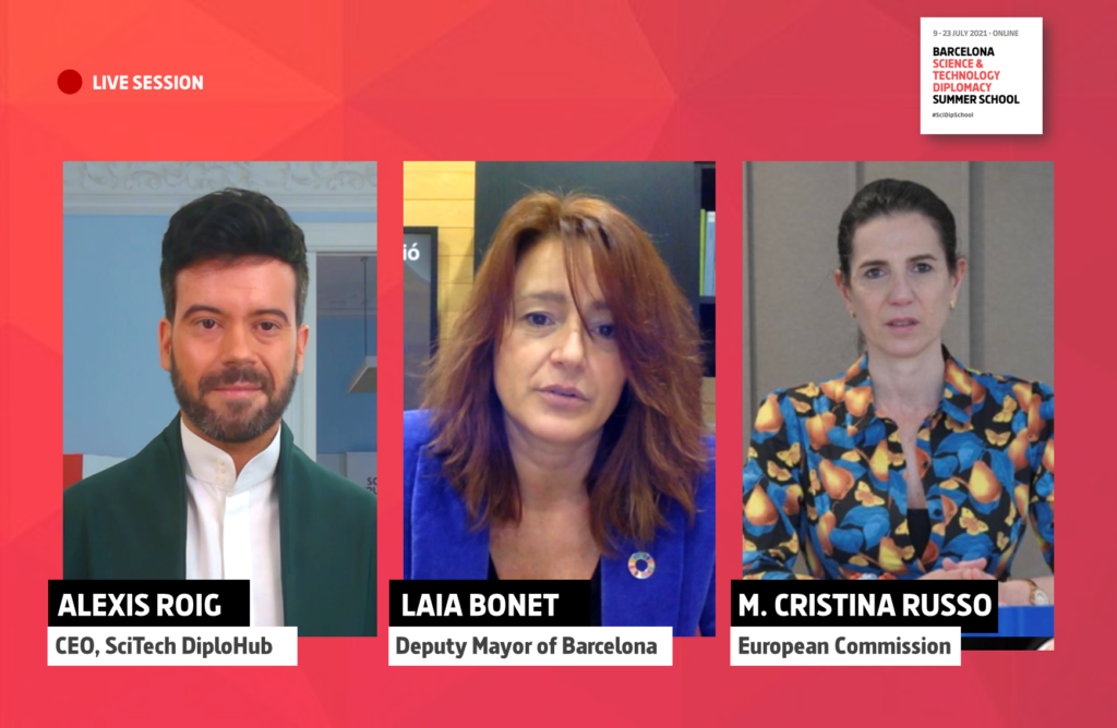 Alexis Roig, Laia Bonet i Maria Cristina Russo | SciTech DiploHub