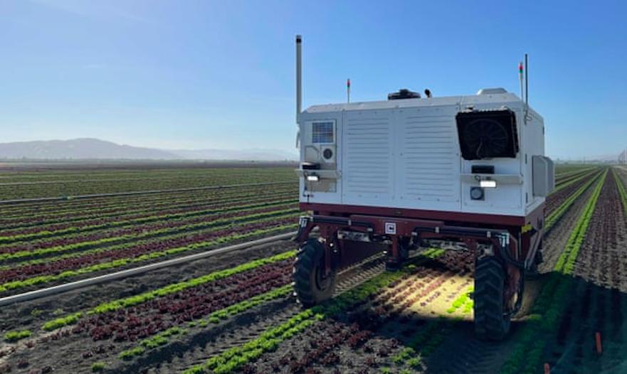 El robot que elimina males herbes amb un raig làser | Carbon Robotics