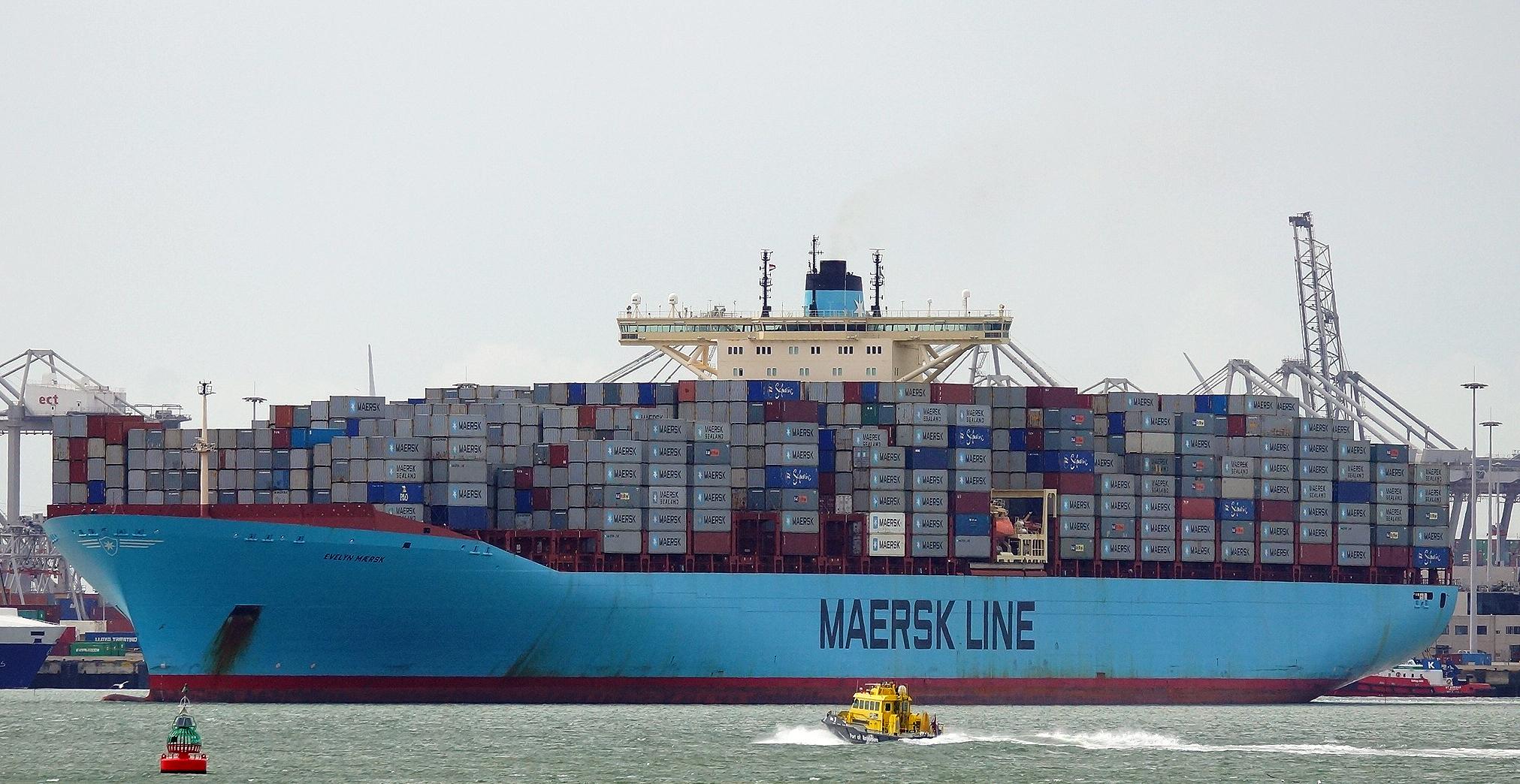 Un vaixell contenidor de Maersk   Wikimedia Commons