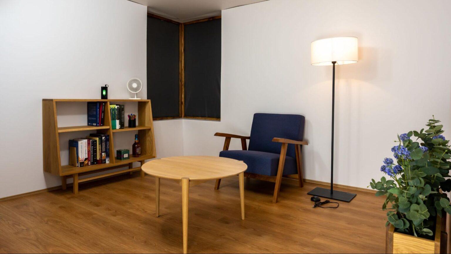 La habitació de càrreca inalàmbrica dissenyada per als experiments | Universitat de Michigan