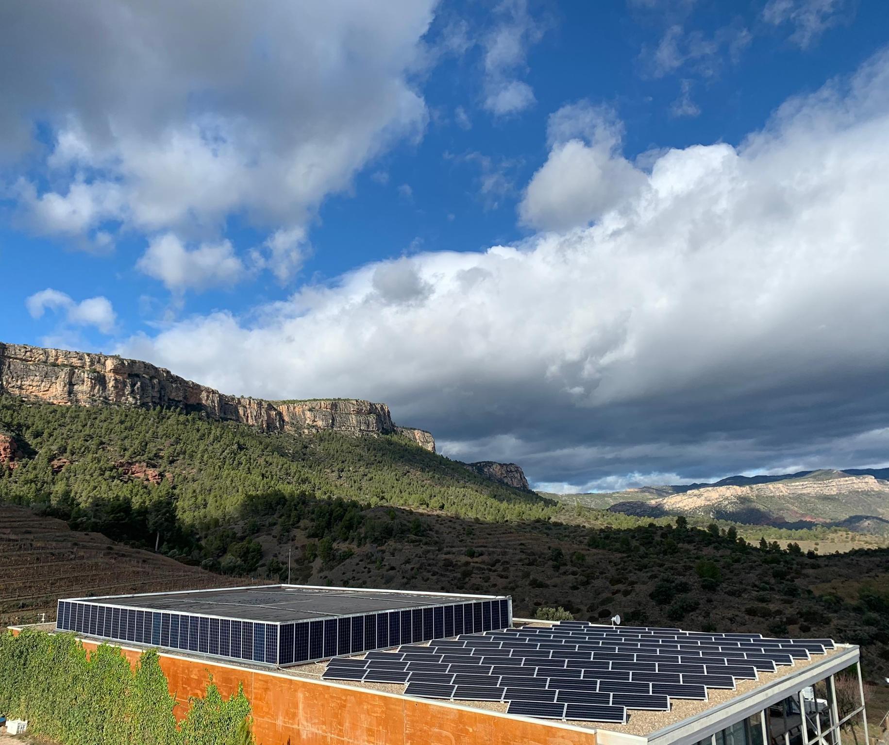 Plaques solars a les instal·lacions de Família Torres a El Lloar (Priorat) | Família Torres