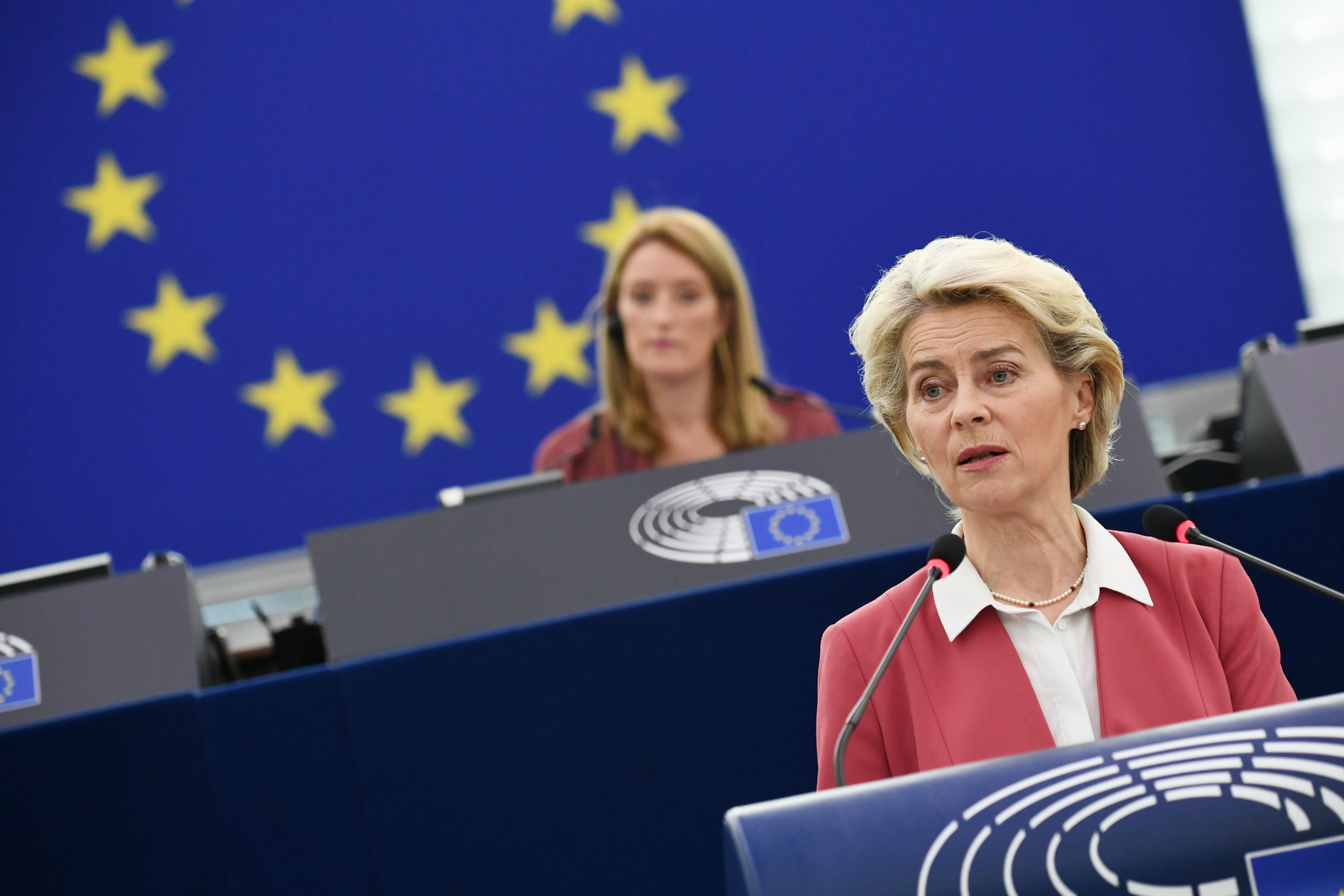 La presidenta de la Comissio Europea, Ursula von der Leyen | ACN