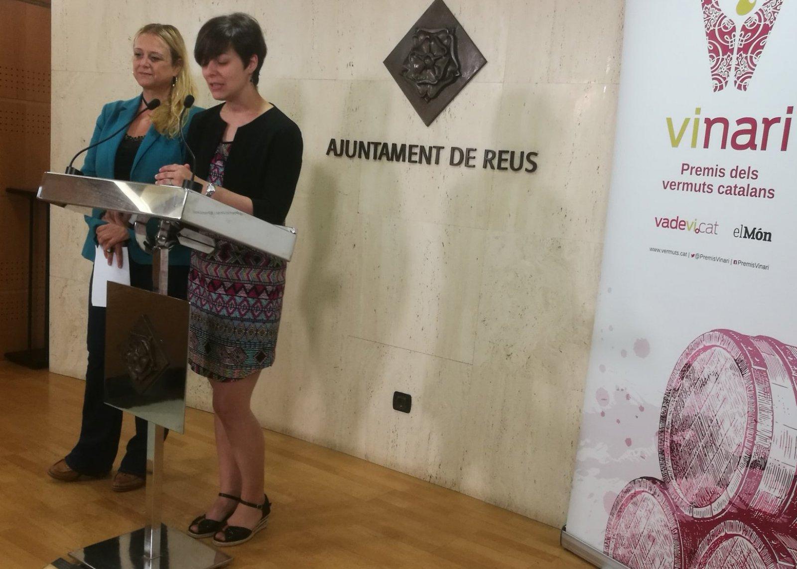 La regidora de promoció econòmica de l'Ajuntament de Reus i la directora dels Premis Vinari, Eva Vicens